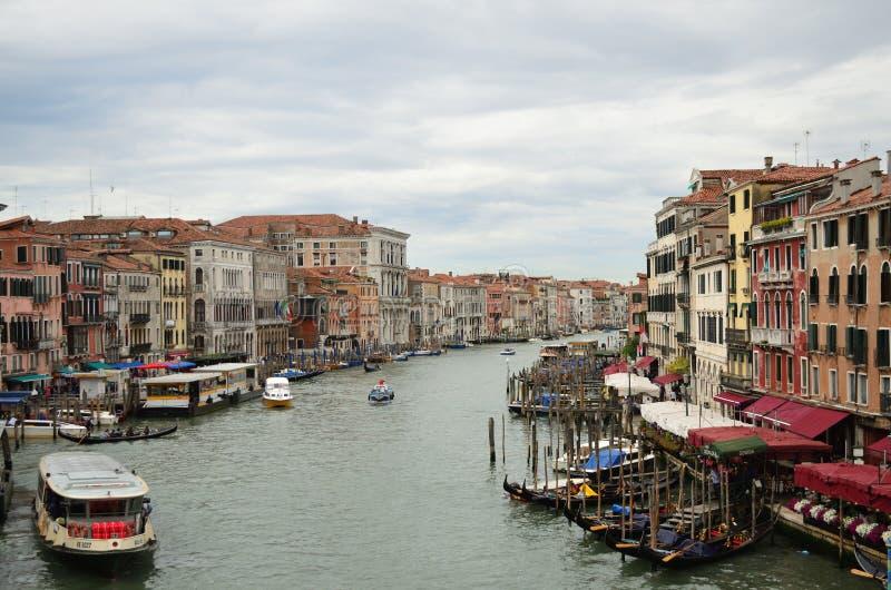 Vista del grande canale di Venezia immagini stock