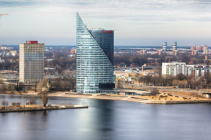 Vista del grattacielo a Riga fotografie stock