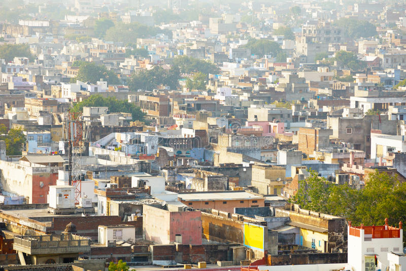 Vista del horizonte de Jaipur imagen de archivo libre de regalías