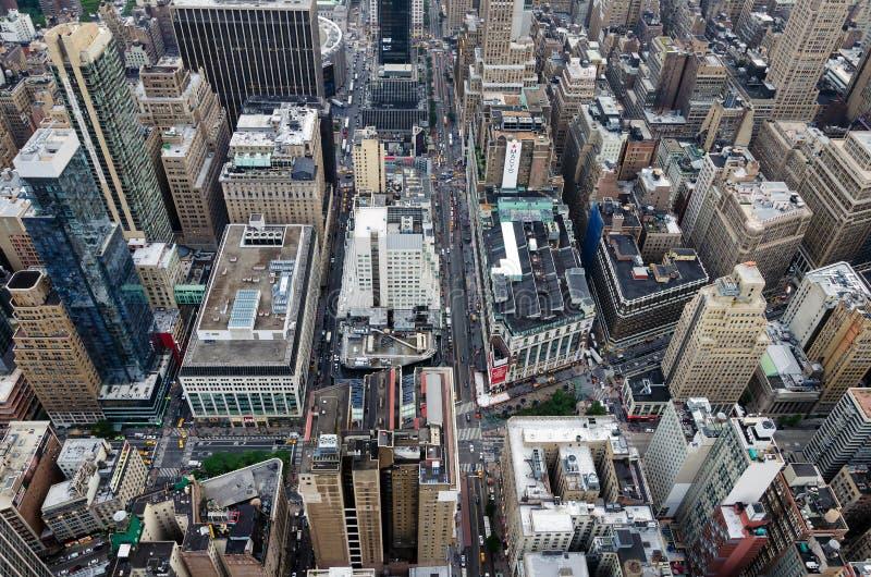 Vista del horizonte de Manhattan del top imagen de archivo libre de regalías