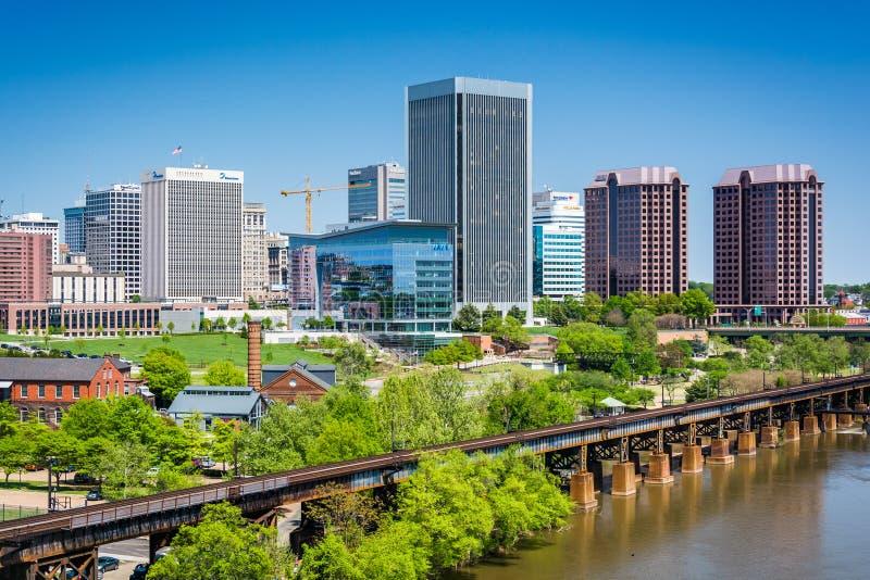 Vista del horizonte en Richmond, Virginia imagenes de archivo
