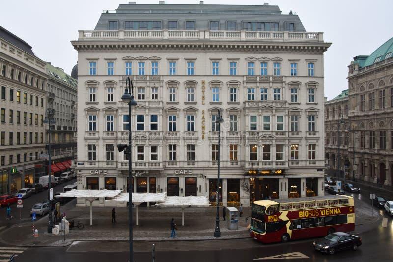 Vista del hotel Sacher fotografía de archivo