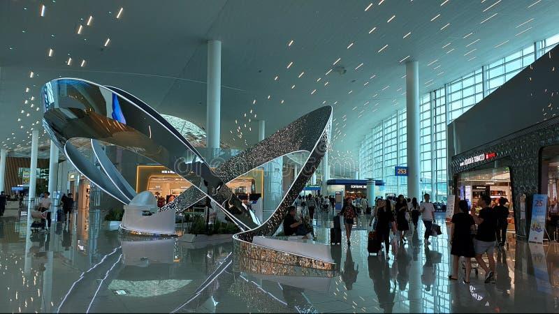 Vista del interior del aeropuerto internacional de Inchon, Seúl, Corea del Sur fotografía de archivo libre de regalías
