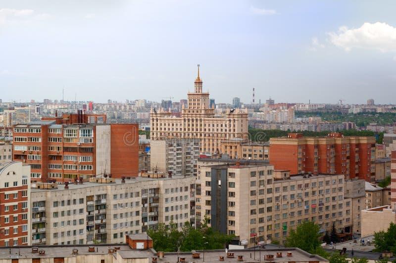 Vista del Kurchatov y de los distritos centrales imágenes de archivo libres de regalías
