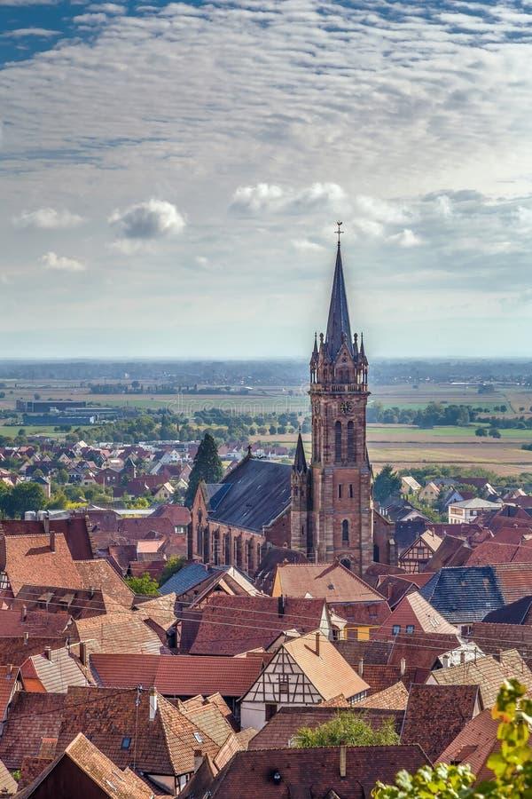 Vista del la Ville, Alsacia, Francia de Dambach imágenes de archivo libres de regalías