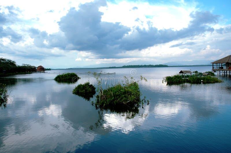 Vista del lago immagine stock