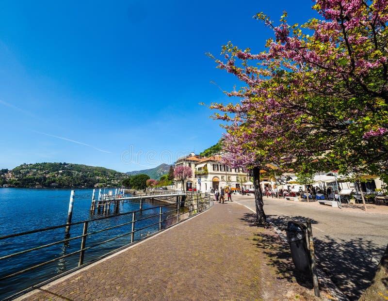 Vista del lago Como (HDR) imágenes de archivo libres de regalías