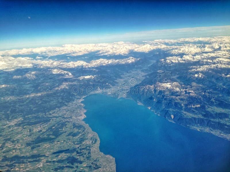 Vista del lago konstanz fotografie stock