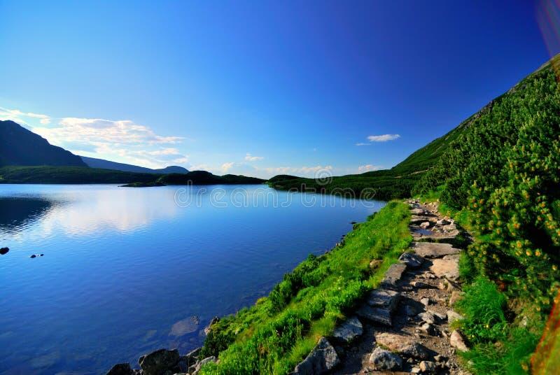 Vista del lago mountain immagine stock libera da diritti