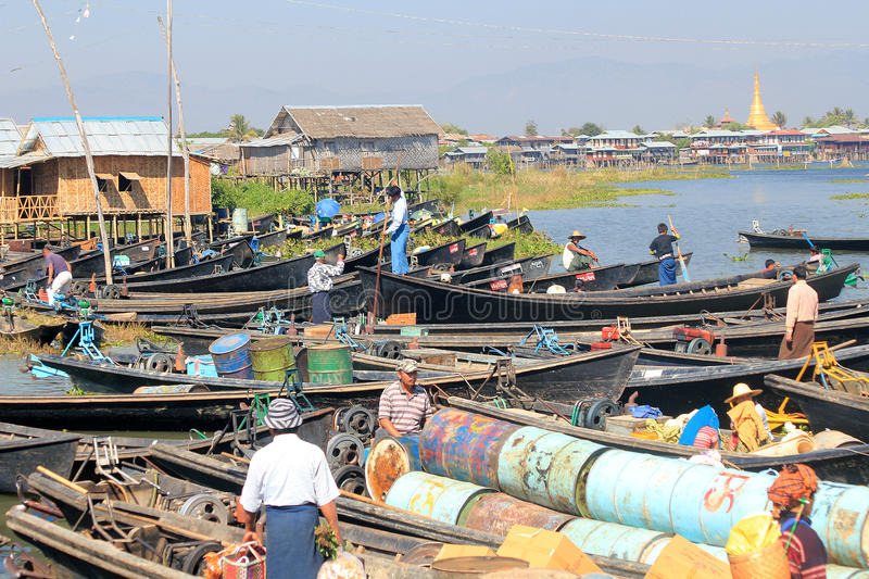 Download Vista Del Lago Myanmar Inle Immagine Editoriale - Immagine di frutta, locale: 55355455