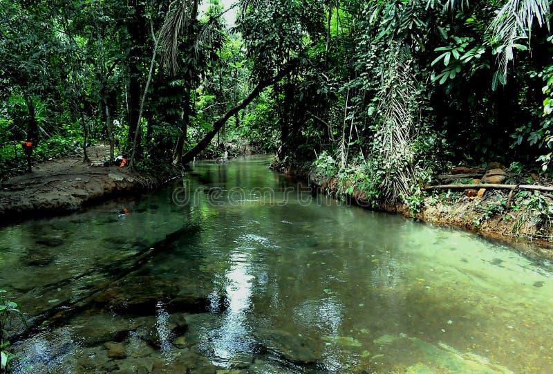 Vista del lago Okpoku fotografia stock