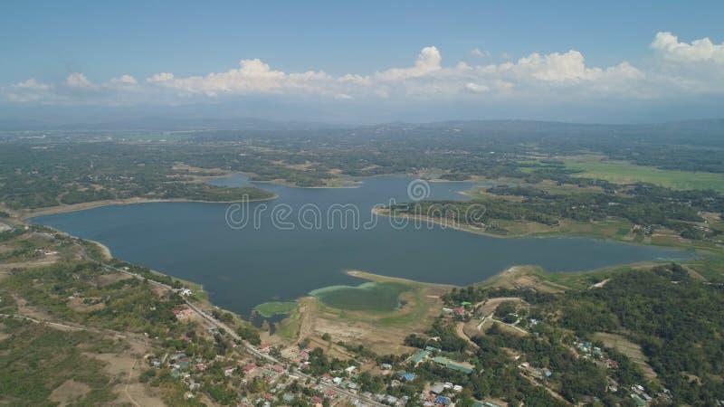 Vista del lago Paoay, Filippine immagini stock libere da diritti