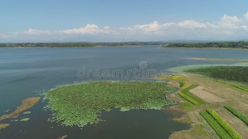 Vista del lago Paoay, Filippine immagine stock libera da diritti