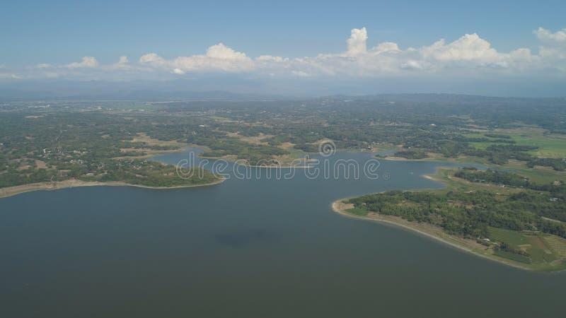 Vista del lago Paoay, Filippine fotografie stock