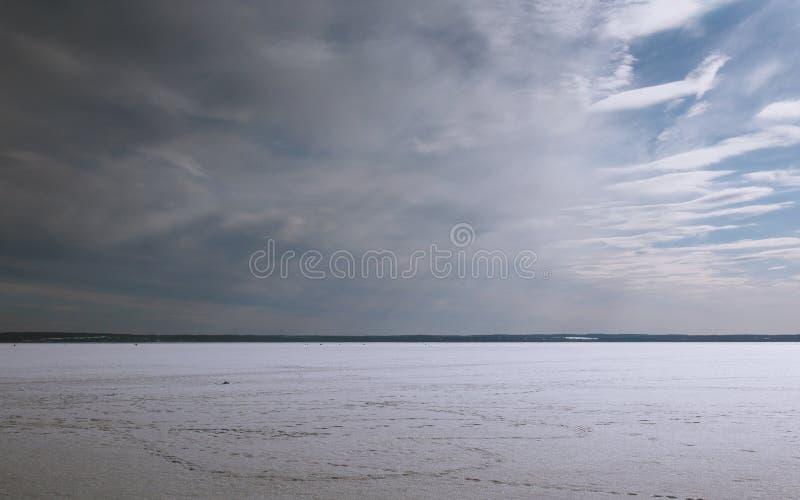 Vista del lago Plescheevo fotografia stock