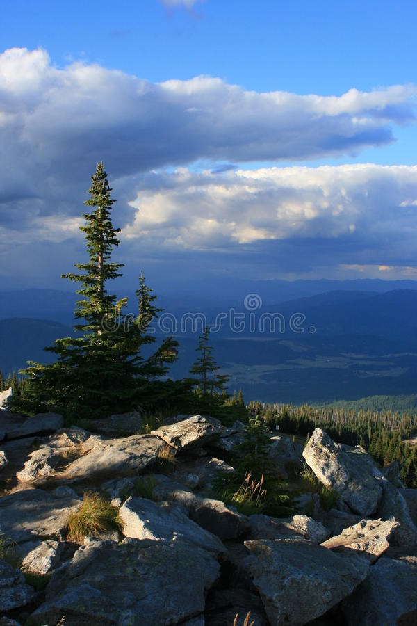 Vista del lago spirit dal Mt. Spokane fotografie stock
