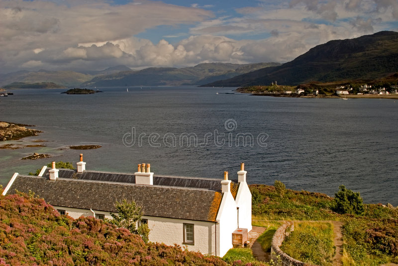 Vista del Loch fotografia stock