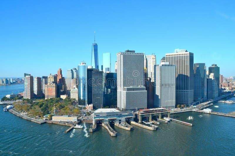 Vista del Lower Manhattan, New York City imágenes de archivo libres de regalías