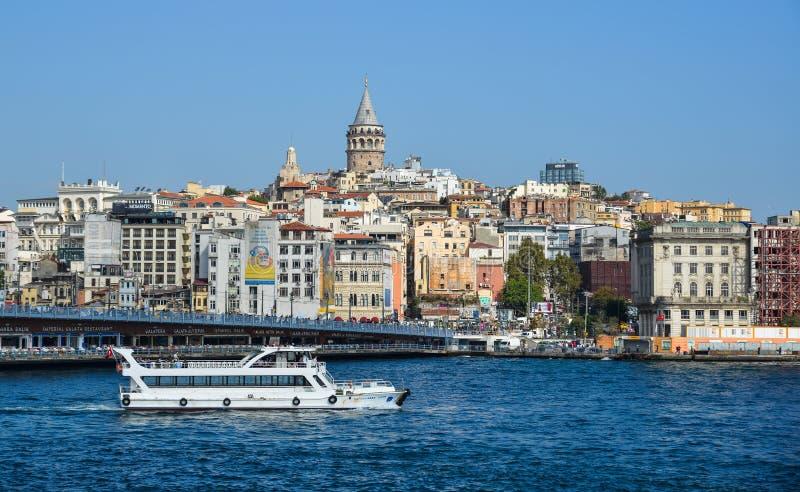 Vista del lungomare di Costantinopoli fotografia stock libera da diritti