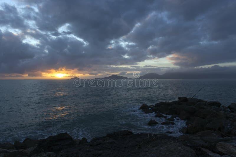 Vista del mar durante invierno imágenes de archivo libres de regalías