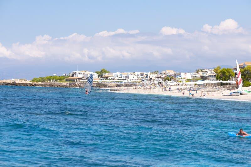 Vista del mar Mediterráneo, Grece, Creta imágenes de archivo libres de regalías
