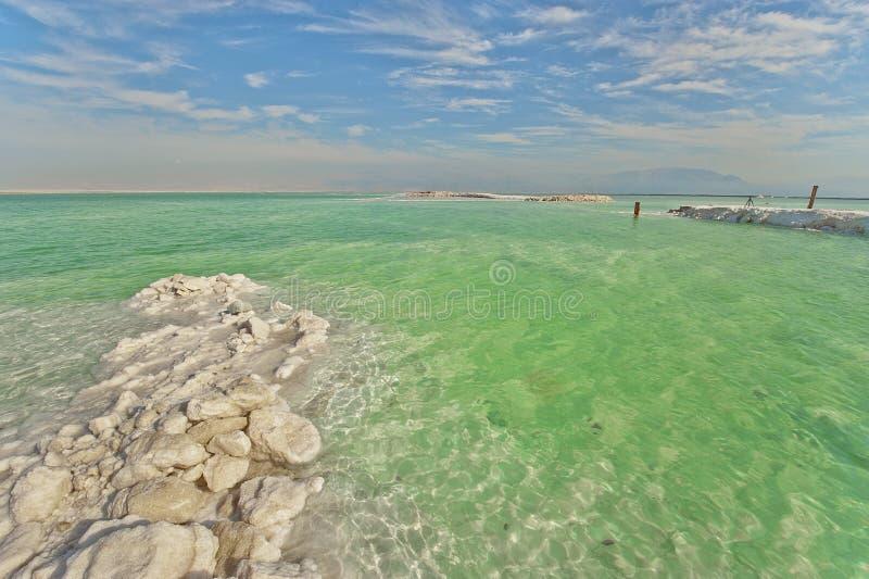 Vista del mar Morto fotografia stock