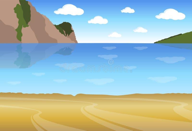 Vista del mare illustrazione vettoriale