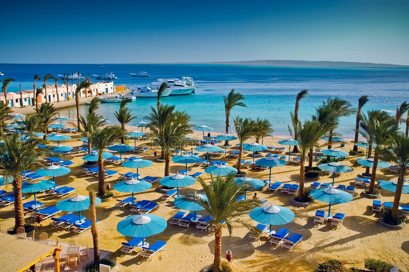 Vista del mare dell'Egitto fotografia stock libera da diritti