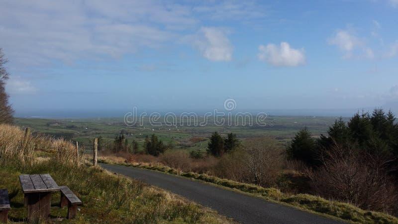 Vista del mare dell'Irlanda fotografie stock