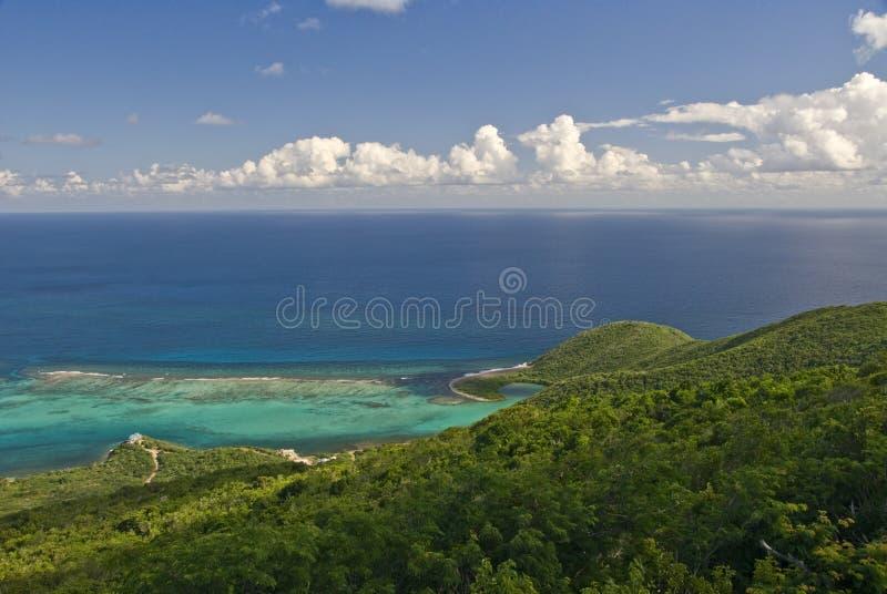 Vista del mare dell'isola di Gorda del Virgin   fotografia stock
