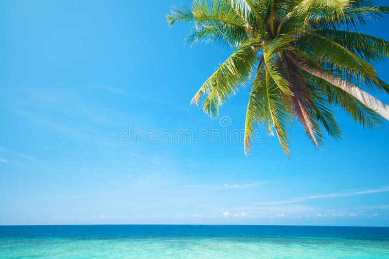 Vista del mare di estate fotografia stock