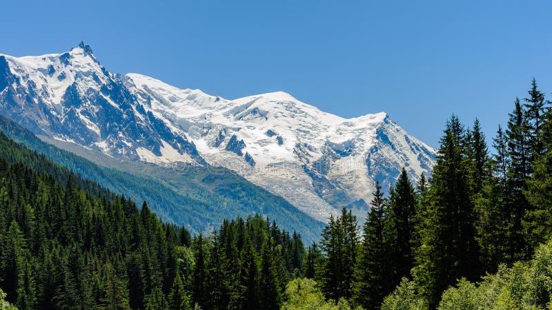 Vista del massiccio di Mont Blanc immagine stock