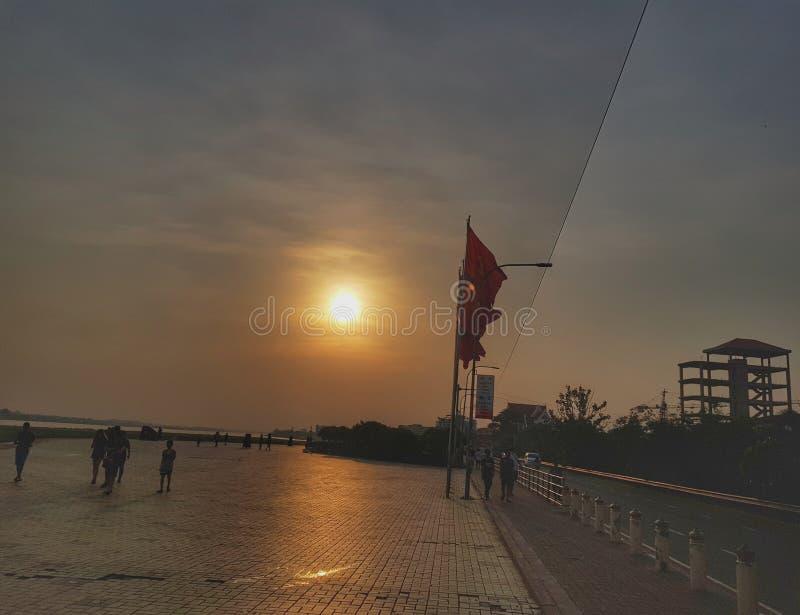 Vista del Mekong del Laos immagini stock libere da diritti