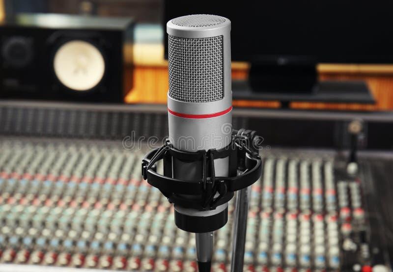 Vista del microfono immagini stock libere da diritti