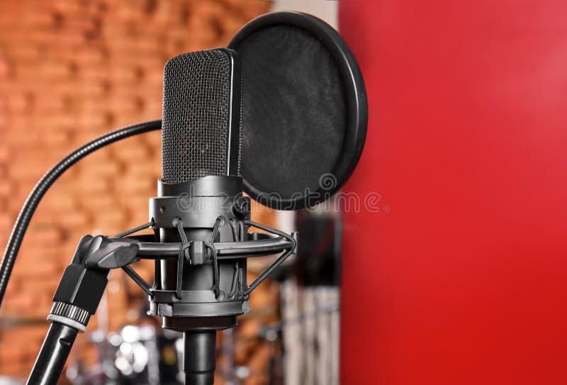 Vista del microfono immagine stock libera da diritti
