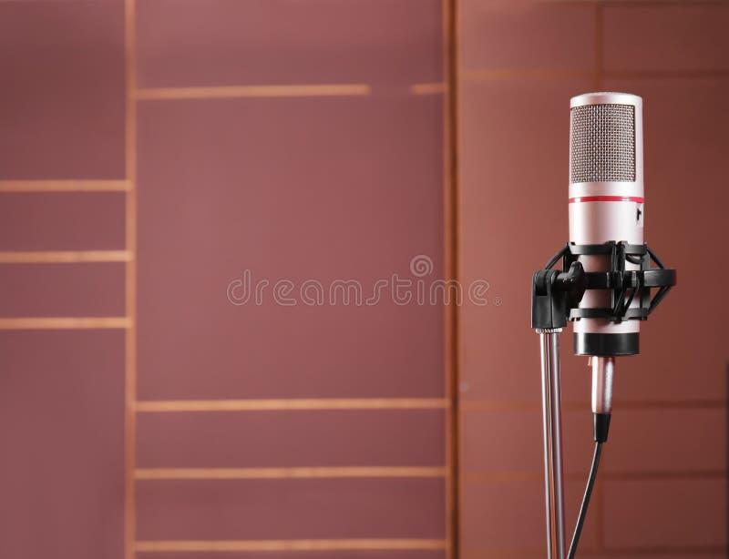 Vista del microfono fotografie stock libere da diritti
