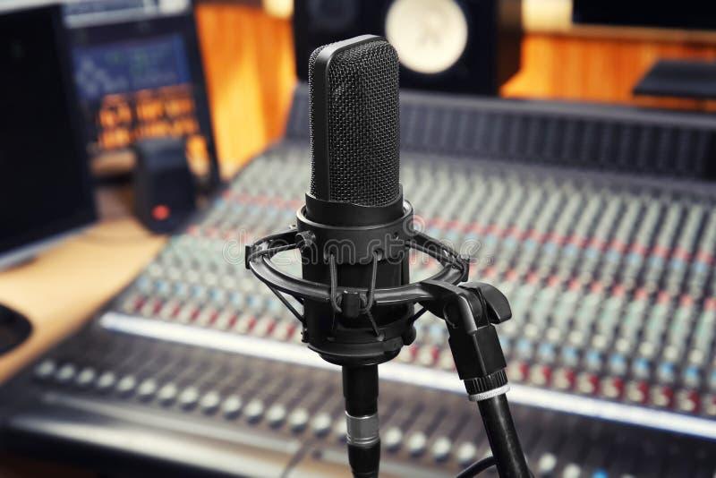 Vista del microfono fotografia stock