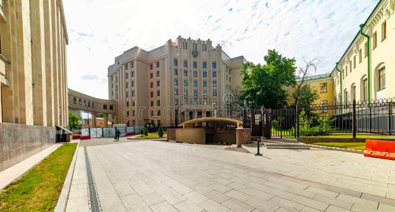 Vista del ministero degli affari esteri, quadrato di Smolenskaya-Sennaya fotografie stock