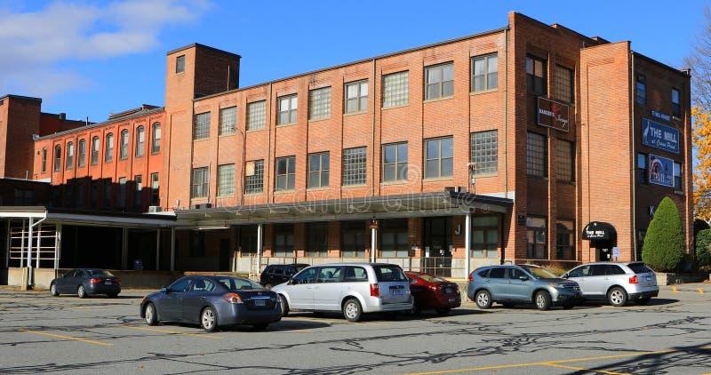 Vista del molino viejo convertido en Westfield, Massachusetts imagen de archivo libre de regalías