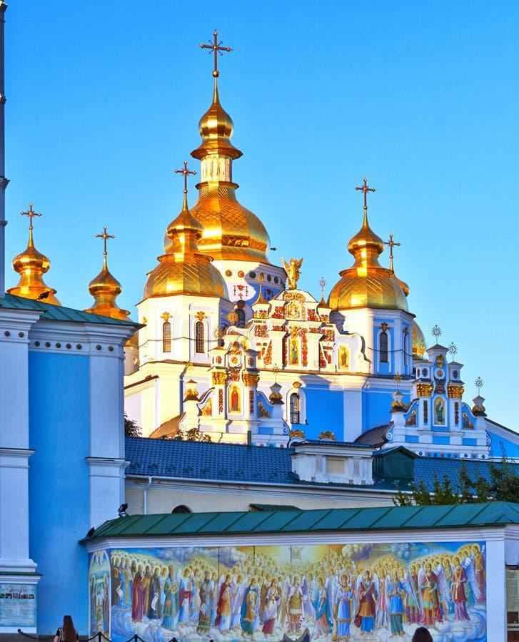 Vista del monasterio cristiano antiguo en Kiev, Ucrania imagenes de archivo