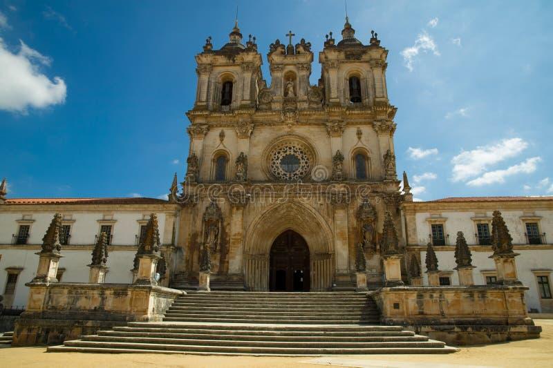 Vista del monastero di Alcobaca fotografie stock libere da diritti