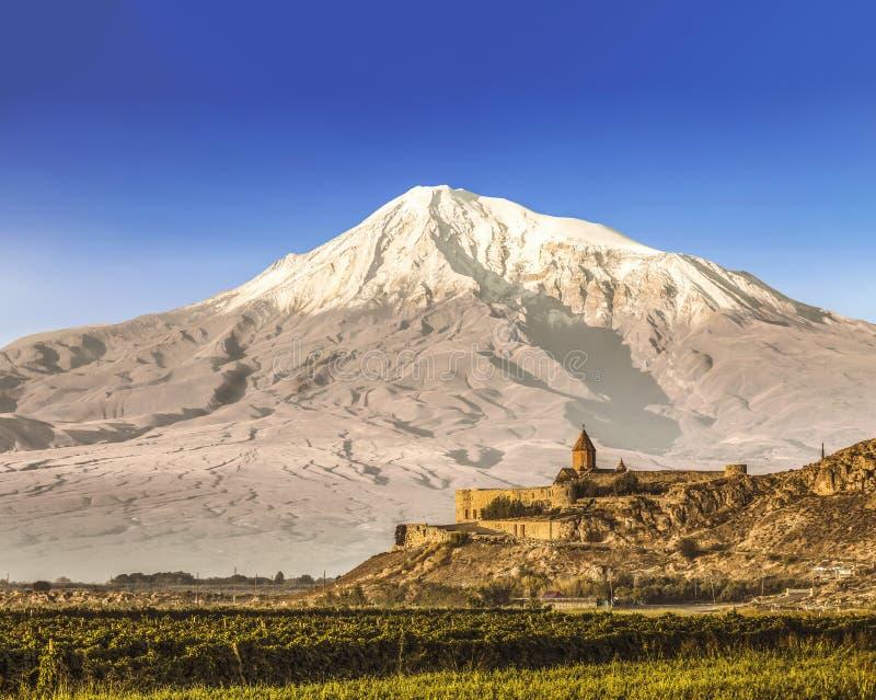 Vista del monte Ararat de Armenia fotografía de archivo