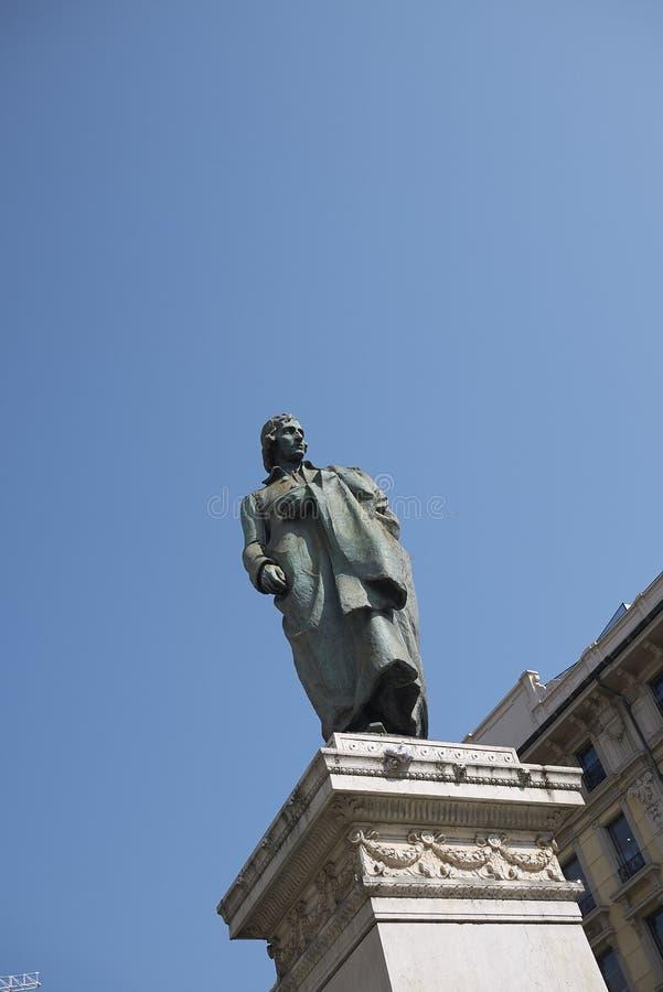 Vista del monumento de Giuseppe Parini foto de archivo libre de regalías