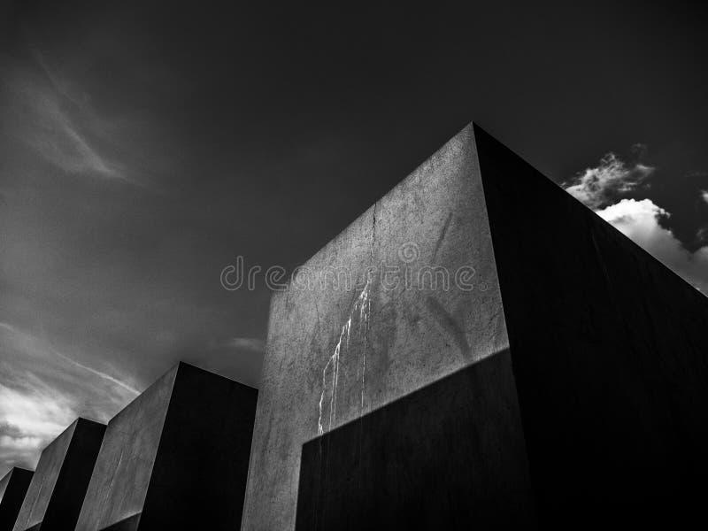 Vista del monumento del holocausto imágenes de archivo libres de regalías