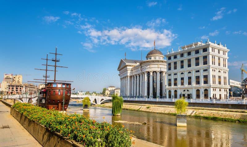 Vista del museo archeologico macedone fotografia stock libera da diritti