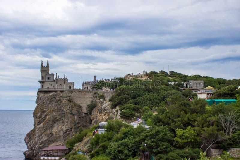 Vista del ` del nido del ` s del sorso del ` del castello, Jalta, Crimea fotografia stock libera da diritti