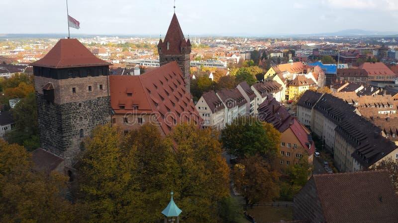 Vista del nurnberg imagen de archivo libre de regalías
