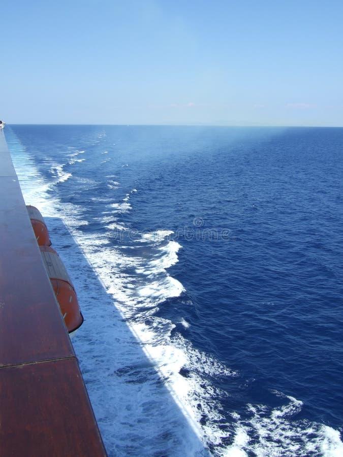 Vista del océano de la nave fotos de archivo libres de regalías