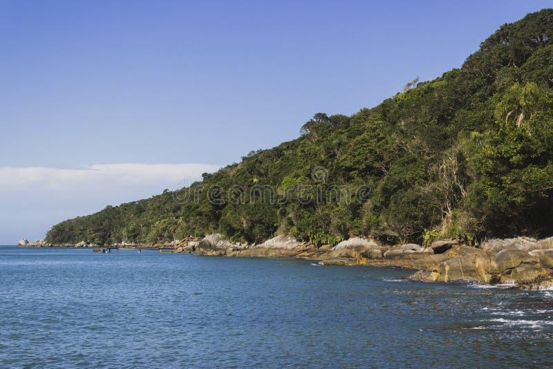 Vista del paesaggio da una costa fotografie stock