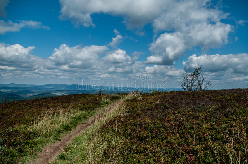 Vista del paesaggio dalla collina fotografie stock
